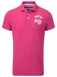 Bunker Mentality Plain Polo Regular Fit Polo Shirt Pink