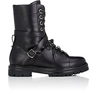 Valentino Women's Leather Combat Boots Black