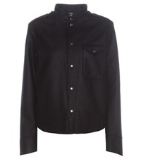 Citizens Of Humanity Kate Band Wool And Cashmere Jacket Black