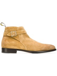 Doucal's Buckle Detail Ankle Boots Nude And Neutrals