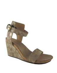 Adrienne Vittadini Ted Suede Wedge Sandals Taupe
