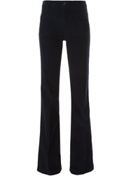 Vanessa Bruno Corduroy Flared Trousers Blue