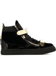 Giuseppe Zanotti Design Zip Detail Hi Top Sneakers Black