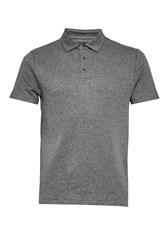French Connection Men's Central Crepe Polo Shirt Grey