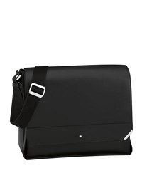 Montblanc Urban Spirit Leather Messenger Bag Black