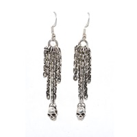 The Wildness Jewellery Skull Earrings Silver