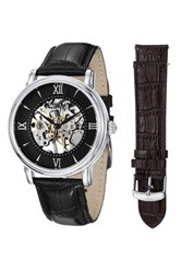 Stuhrling Men's Chamberlain Interchangeable Watch Set Metallic