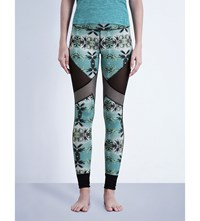 Sweaty Betty Urdhva Reversible Jersey Yoga Leggings Palm Coast Print