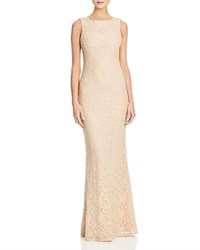 Alice Olivia Alice And Olivia Sachi Open Back Lace Gown Blush