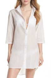 Echo Solid Cover Up Dress White