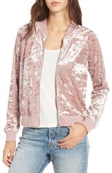 Fire Women's Love Velvet Bomber Jacket Mauve