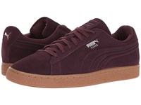 Puma Suede Classic Debossed Q4 Wine Tasting Lilac Snow Men's Shoes Burgundy