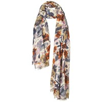 Fat Face Abstract Floral Print Scarf Multi
