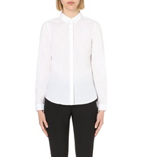 Reiss Selina Grosgrain Trimmed Shirt White