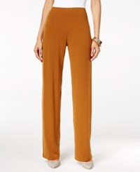 Alfani Knit Wide Leg Trousers Only At Macy's Brushed Sienna