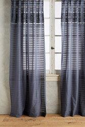 Anthropologie Micha Curtain Dark Grey