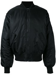 Hood By Air Satin Bomber Jacket Men Nylon Polyester Cupro S Black