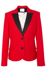 Racil Mick Fitted Tuxedo Jacket Red