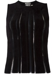 Fausto Puglisi Exposed Seam Tank Top Black