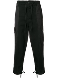Ami Alexandre Mattiussi Patchwork Oversized Carrot Fit Trousers Black
