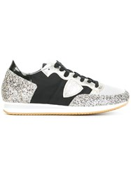 Philippe Model Glitter Detail Sneakers Black