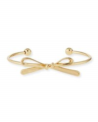 Kenneth Jay Lane Polished Open Bow Bangle Bracelet Gold