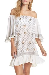 Muche Et Muchette Women's Dreamer Off The Shoulder Cover Up Dress White
