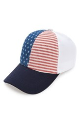 Women's David And Young 'Americana' Canvas Snapback Cap