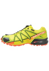 Salomon Speedcross 4 Gtx Neutral Running Shoes Sulphur Spring Lime Green Flame Yellow