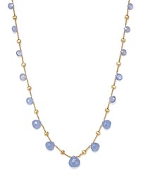 Marco Bicego 18K Yellow Gold Paradise Chalcedony Necklace 16.5