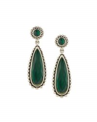 Lagos Maya Malachite Doublet Drop Earrings Green
