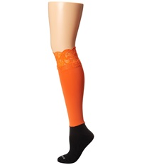 Bootights Lacie Lace Darby Knee High Ankle Sock Orange Knee High Hose