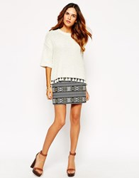 Warehouse Aztec Mini Skirt Multi