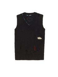 Raf Simons Distressed Knit Wool Sweater
