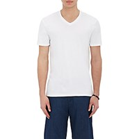 Vince. Men's Pima Cotton V Neck T Shirt White
