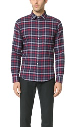 Brooklyn Tailors Thick Flannel Check Shirt Scarlet Gray