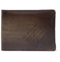 Berluti Scritto Leather Billfold Wallet Brown