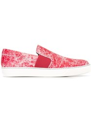 Lanvin Pull On Slip On Sneakers Red