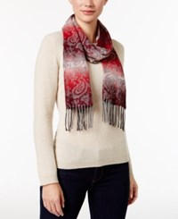 Cejon Ombre Paisley Woven Scarf Red