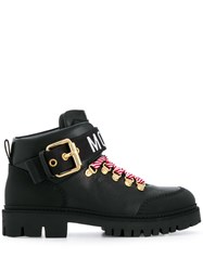 Moschino Trekking Ankle Boots Black