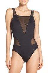 Kenneth Cole Women's Mesh One Piece Swimsuit