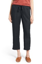 Caslonr Women's Caslon Linen Crop Pants Navy Peacoat
