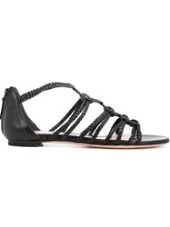 Alexander Mcqueen Strappy Sandals Black