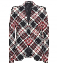Alexander Mcqueen Check Wool Blazer Multicoloured