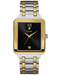 Guess Men's Diamond Accent Two Tone Stainless Steel Bracelet Watch 35Mm U0917g3 Two Tone