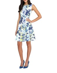 Tahari By Arthur S. Levine Floral Fit And Flare Dress