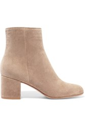 Gianvito Rossi Suede Ankle Boots Beige