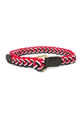 Thom Browne Nantucket Braided Rope D Ring Belt In Red White Blue Stripes Red White Blue Stripes