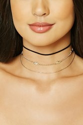 Forever 21 Elephant Choker Set Gold Black