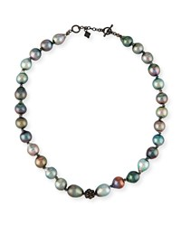 Armenta Old World Midnight Tahitian Pearl Necklace With Diamonds Yellow Black
